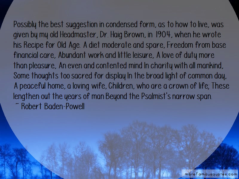 Robert Baden-Powell Quotes: Possibly the best suggestion in