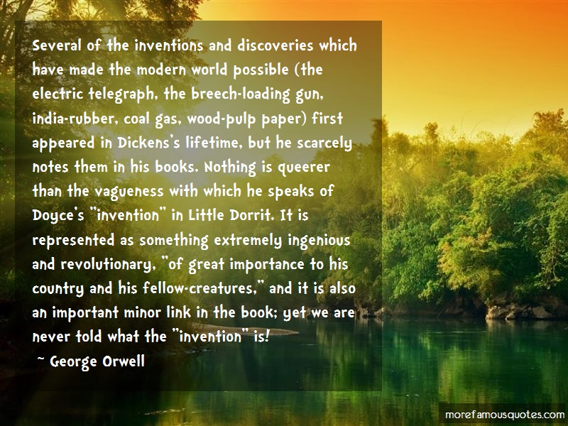 George Orwell Quotes: Several Of The Inventions And