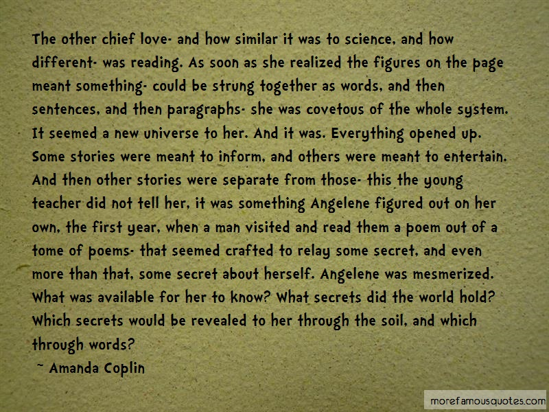 Amanda Coplin Quotes: The Other Chief Love And How Similar It
