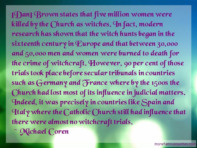 Michael Coren Quotes: Dan Brown States That Five Million Women