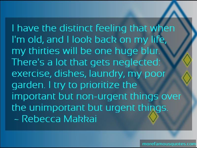 Rebecca Makkai Quotes: I have the distinct feeling that when im