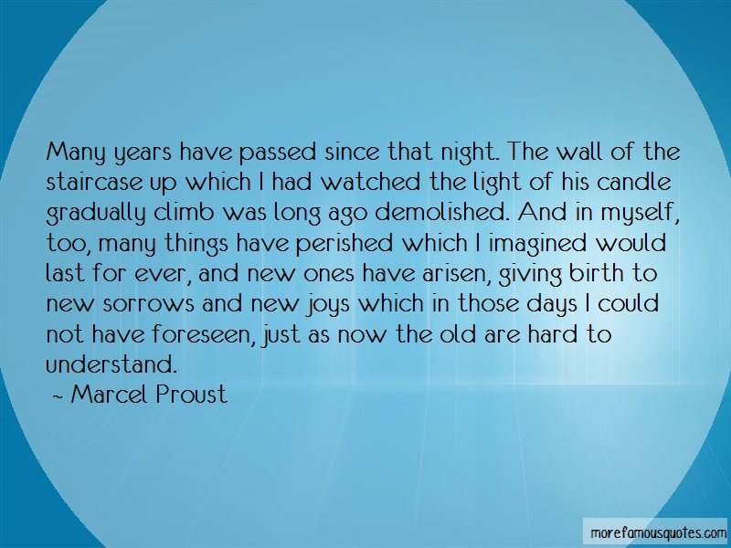 Marcel Proust Quotes: Many years have passed since that night