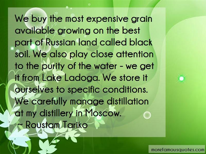 Roustam Tariko Quotes: We buy the most expensive grain