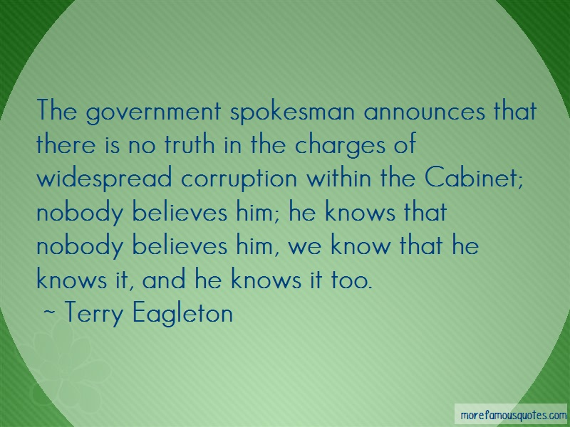 corruption within the government