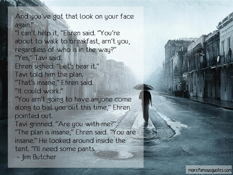 Jim Butcher Quotes: And Youve Got That Look On Your Face