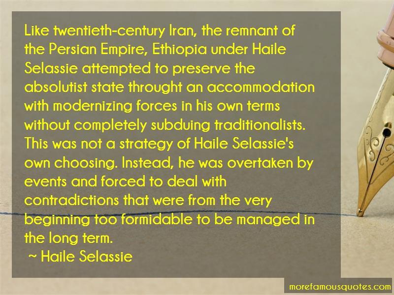 Haile Selassie Quotes: Like Twentieth Century Iran The Remnant