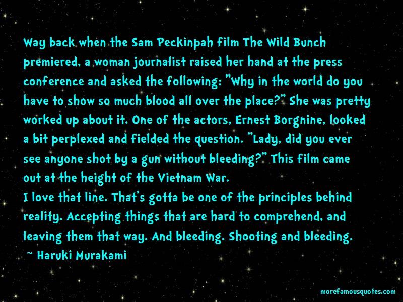 Haruki Murakami Quotes: Way Back When The Sam Peckinpah Film The