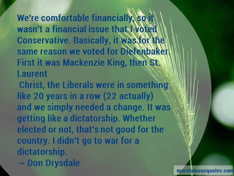 Don Drysdale Quotes: Were comfortable financially so it wasnt