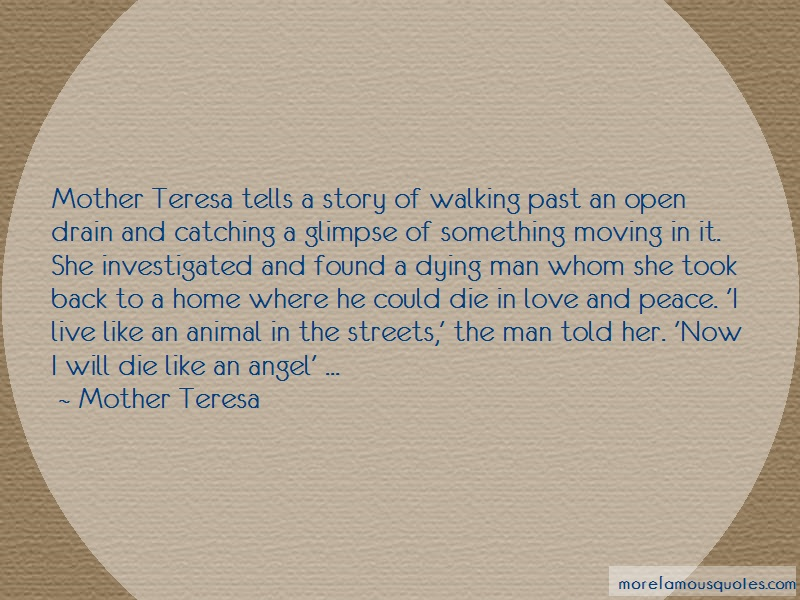 Mother Teresa Quotes: Mother Teresa Tells A Story Of Walking