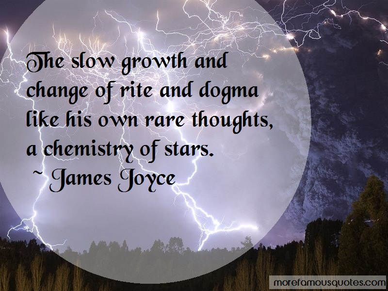 James Joyce Quotes: The slow growth and change of rite and