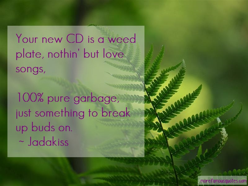 Jadakiss Quotes: Your new cd is a weed plate nothin but