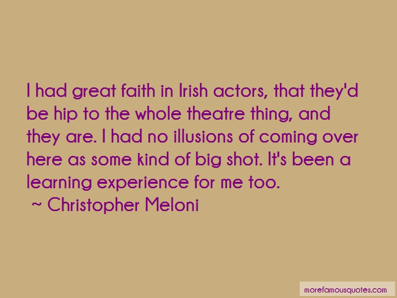 Christopher Meloni Quotes: I had great faith in irish actors that