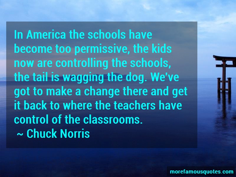 Chuck Norris Quotes: In america the schools have become too